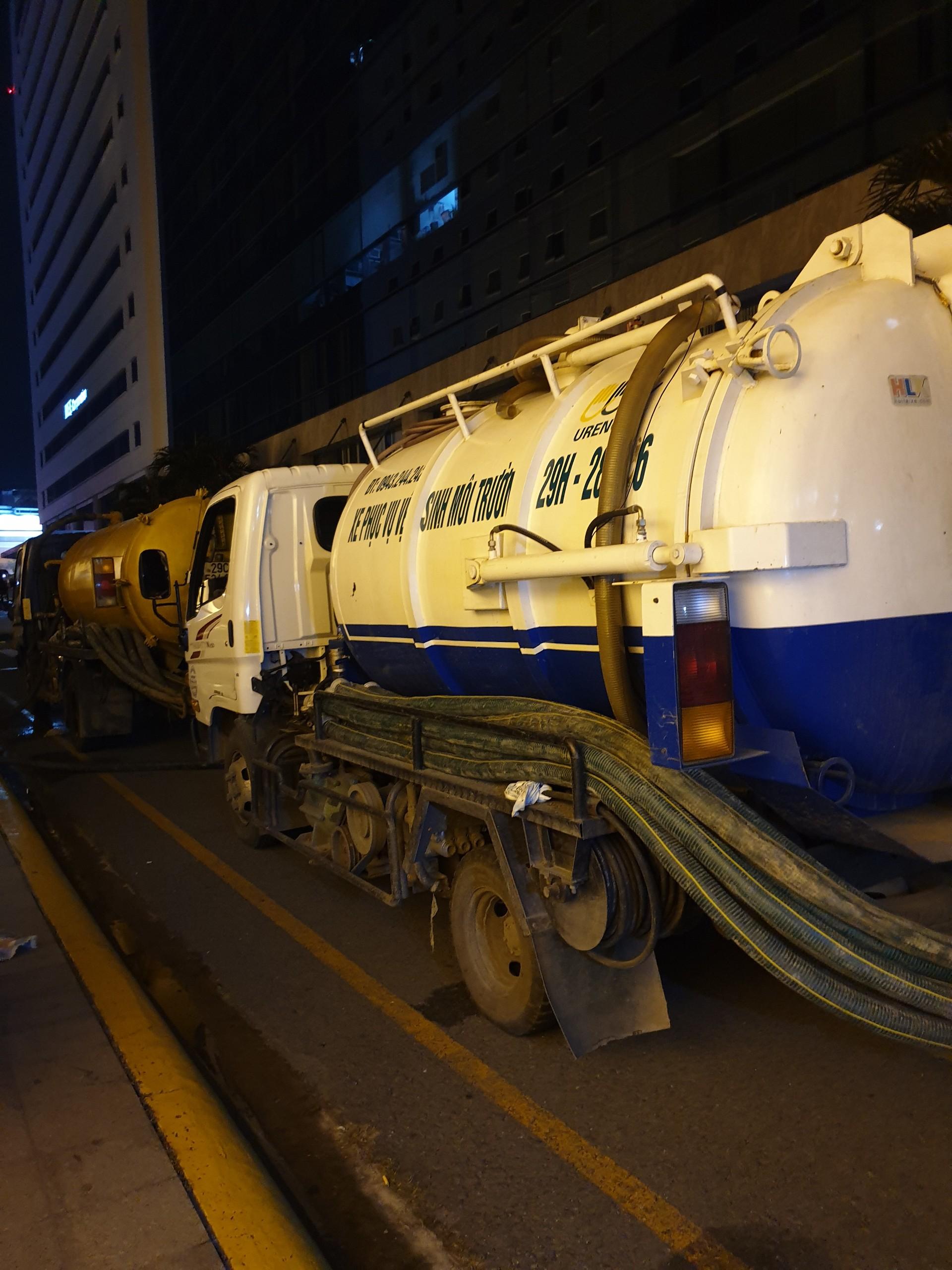 Hút hầm cầu xã Thường Tân